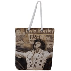 Vintage Elvis Presley Full Print Rope Handle Tote (large)