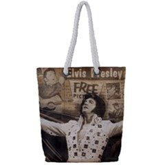 Vintage Elvis Presley Full Print Rope Handle Tote (small)