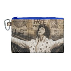 Vintage Elvis Presley Canvas Cosmetic Bag (large)