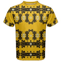 Ornate Circulate Is Festive In Flower Decorative Men s Cotton Tee