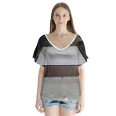 20141205 104057 20140802 110044 V Neck Flutter Sleeve Top