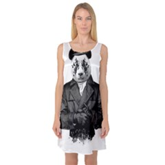 Rorschach Panda Sleeveless Satin Nightdress