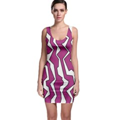 Electric Pink Polynoise Bodycon Dress