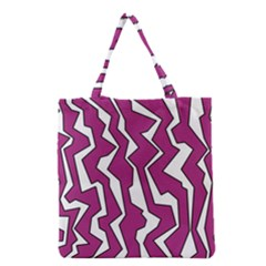 Electric Pink Polynoise Grocery Tote Bag