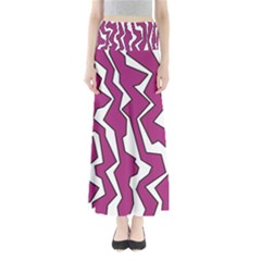 Electric Pink Polynoise Full Length Maxi Skirt