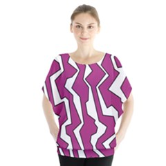 Electric Pink Polynoise Blouse
