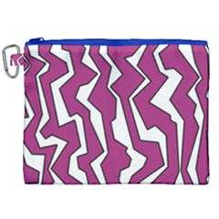 Electric Pink Polynoise Canvas Cosmetic Bag (xxl)