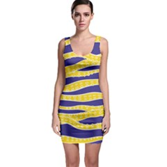 Yellow Tentacles Bodycon Dress