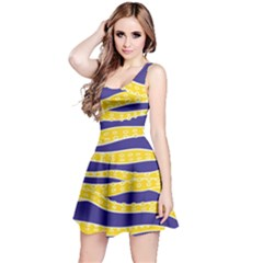 Yellow Tentacles Reversible Sleeveless Dress