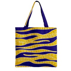 Yellow Tentacles Grocery Tote Bag