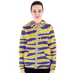 Yellow Tentacles Women s Zipper Hoodie