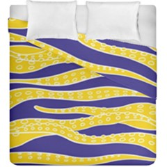 Yellow Tentacles Duvet Cover Double Side (king Size)