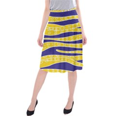 Yellow Tentacles Midi Beach Skirt