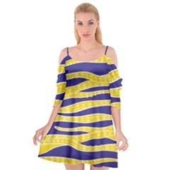 Yellow Tentacles Cutout Spaghetti Strap Chiffon Dress