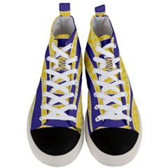 Yellow Tentacles Men s Mid Top Canvas Sneakers