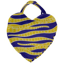 Yellow Tentacles Giant Heart Shaped Tote