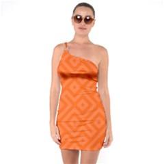 Seamless Pattern Design Tiling One Soulder Bodycon Dress