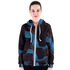 Abstract Adult Art Blur Color Women s Zipper Hoodie