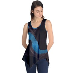 Abstract Adult Art Blur Color Sleeveless Tunic