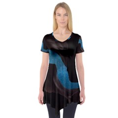 Abstract Adult Art Blur Color Short Sleeve Tunic
