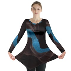 Abstract Adult Art Blur Color Long Sleeve Tunic