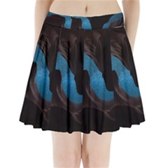 Abstract Adult Art Blur Color Pleated Mini Skirt