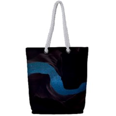 Abstract Adult Art Blur Color Full Print Rope Handle Tote (small)