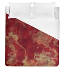 Marble Red Yellow Background Duvet Cover (queen Size)