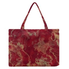 Marble Red Yellow Background Zipper Medium Tote Bag