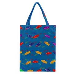 Fish Blue Background Pattern Texture Classic Tote Bag