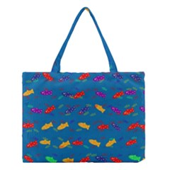Fish Blue Background Pattern Texture Medium Tote Bag
