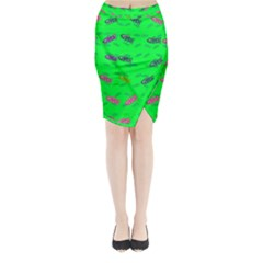 Fish Aquarium Underwater World Midi Wrap Pencil Skirt