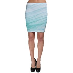 Texture Seawall Ink Wall Painting Bodycon Skirt