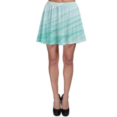 Texture Seawall Ink Wall Painting Skater Skirt
