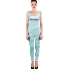 Texture Seawall Ink Wall Painting One Piece Catsuit