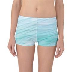 Texture Seawall Ink Wall Painting Reversible Boyleg Bikini Bottoms