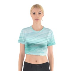 Texture Seawall Ink Wall Painting Cotton Crop Top