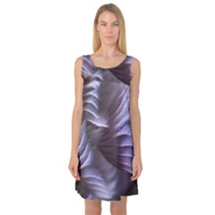 Sea Worm Under Water Abstract Sleeveless Satin Nightdress