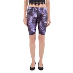 Sea Worm Under Water Abstract Yoga Cropped Leggings