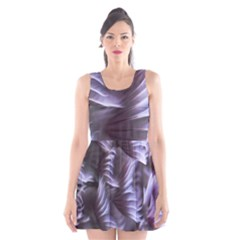 Sea Worm Under Water Abstract Scoop Neck Skater Dress