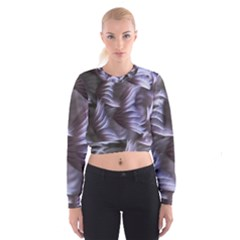 Sea Worm Under Water Abstract Cropped Sweatshirt