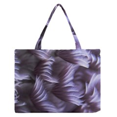Sea Worm Under Water Abstract Zipper Medium Tote Bag