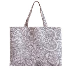Ornament Vector Retro Zipper Mini Tote Bag