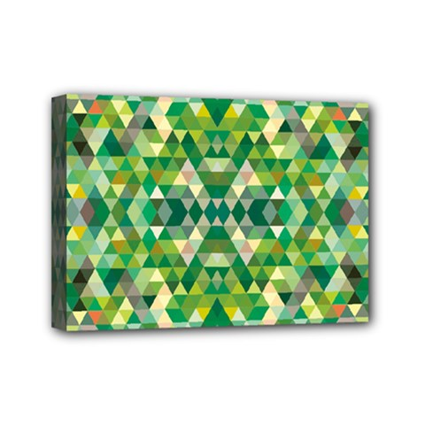 Forest Abstract Geometry Background Mini Canvas 7  X 5
