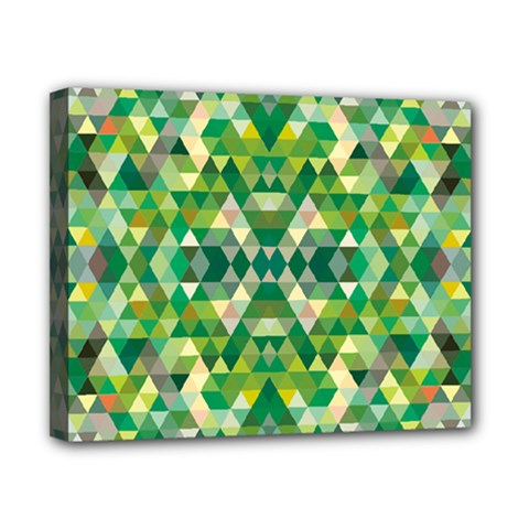 Forest Abstract Geometry Background Canvas 10  X 8