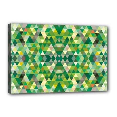 Forest Abstract Geometry Background Canvas 18  X 12