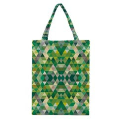 Forest Abstract Geometry Background Classic Tote Bag