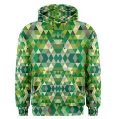 Forest Abstract Geometry Background Men s Pullover Hoodie