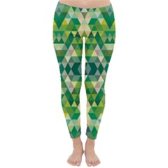 Forest Abstract Geometry Background Classic Winter Leggings