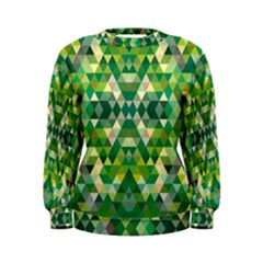 Forest Abstract Geometry Background Women s Sweatshirt